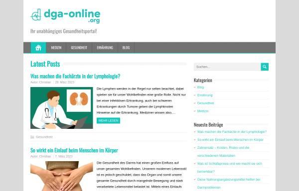 Vorschau von dga-online.org, Deutsche Gesellschaft für Angiologie
