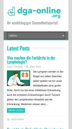 Vorschau der mobilen Webseite dga-online.org, Deutsche Gesellschaft für Angiologie