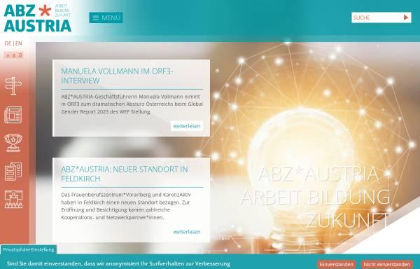 Vorschau von www.abzwien.at, ABZ Wien - Chancen der Frauen Chancen der Wirtschaft