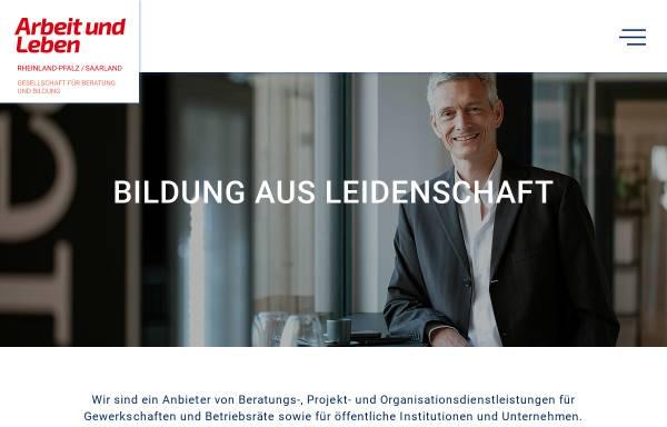 Vorschau von www.arbeit-und-leben.de, Arbeit und Leben Rheinland-Pfalz e.V.
