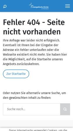 Vorschau der mobilen Webseite www.ekir.de, Ev. Erwachsenenbildungswerk Rheinland - Süd e.V.