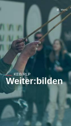 Vorschau der mobilen Webseite www.keb-rheinland-pfalz.de, Katholische Erwachsenenbildung
