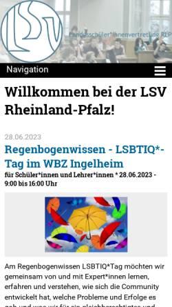 Vorschau der mobilen Webseite www.lsvrlp.de, LandesschülerInnenvertretung Rheinland-Pfalz