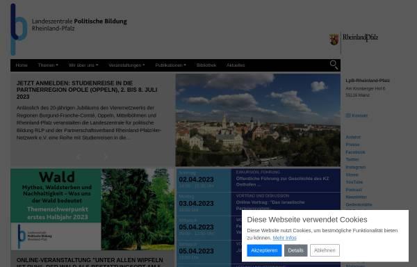 Vorschau von www.politische-bildung-rlp.de, Landeszentrale für politische Bildung Rheinland-Pfalz