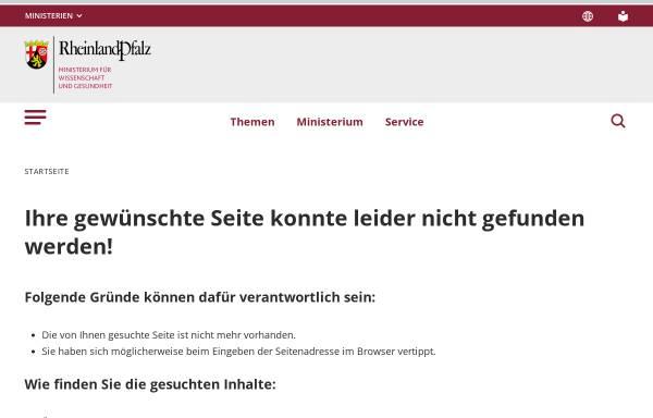 Vorschau von www.mbwwk.rlp.de, Ministerium für Bildung, Wissenschaft, Jugend und Kultur