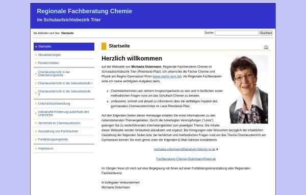 Vorschau von www.fachberatung-chemie-trier.de, Regionale Fachberatung Chemie im Schulaufsichtsbezirk Trier