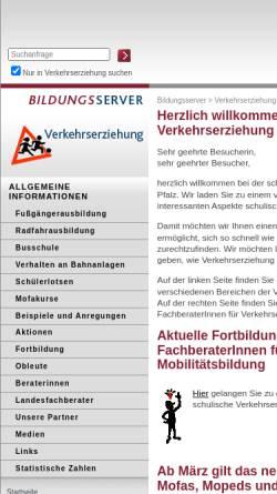 Vorschau der mobilen Webseite verkehrserziehung.bildung-rp.de, Verkehrserziehung Rheinland-Pfalz