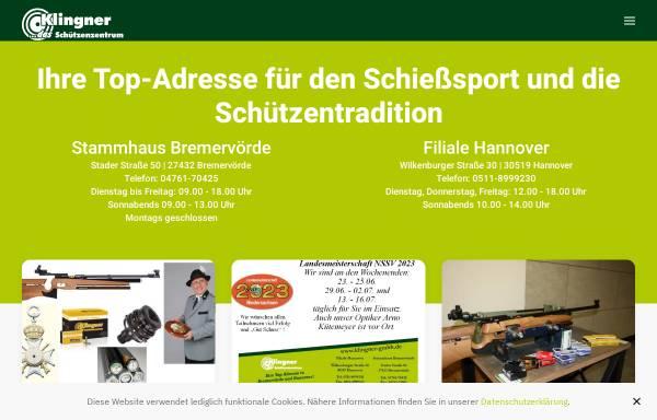 Vorschau von www.klingner-gmbh.de, Klingner GmbH Schützenbedarf