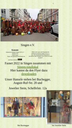 Vorschau der mobilen Webseite www.hohentwiel-hansele.de, Hohentwiel-Hansele Singen e.V.