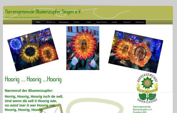 Vorschau von www.blumenzupfer-singen.de, Narrengemeinde Blumenzupfer e.V.