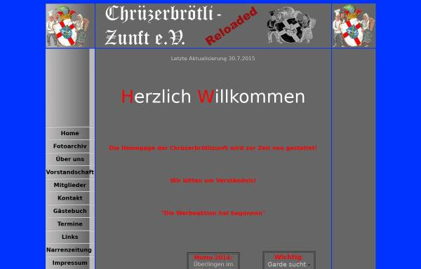Vorschau von www.chruezerbroetli.de, Narrenverein Chrüzerbrötli- Zunft e.V.