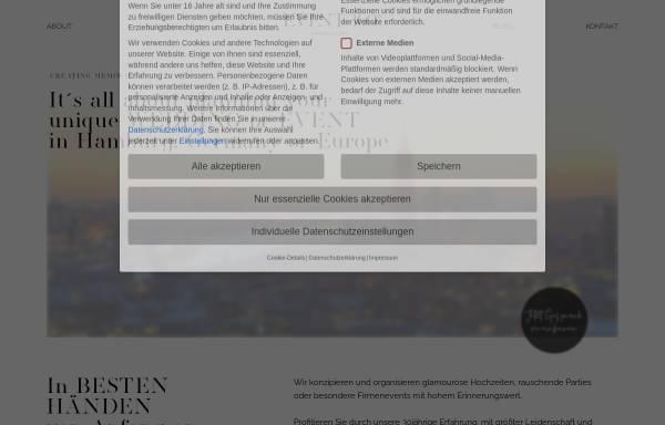 Vorschau von www.event360grad.de, event 360 grad Event und Hochzeitsorganisation - Weddingplanner aus Hamburg