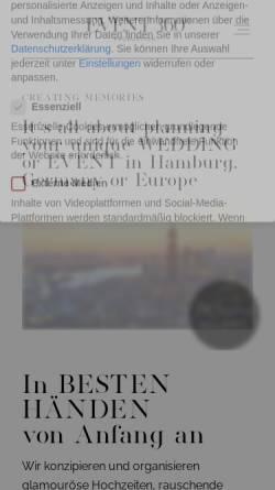 Vorschau der mobilen Webseite www.event360grad.de, event 360 grad Event und Hochzeitsorganisation - Weddingplanner aus Hamburg