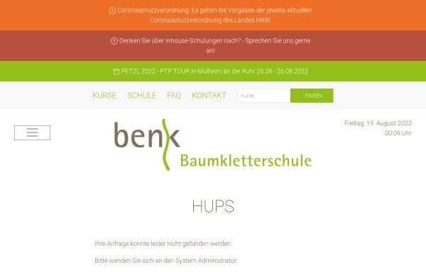 Vorschau von www.baumkletterschule-benk.de, Baumkletterschule, Gebr. Benk GmbH