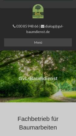 Vorschau der mobilen Webseite www.gvl-baumdienst.de, Gernot von Lyskowski, GVL Baumdienst