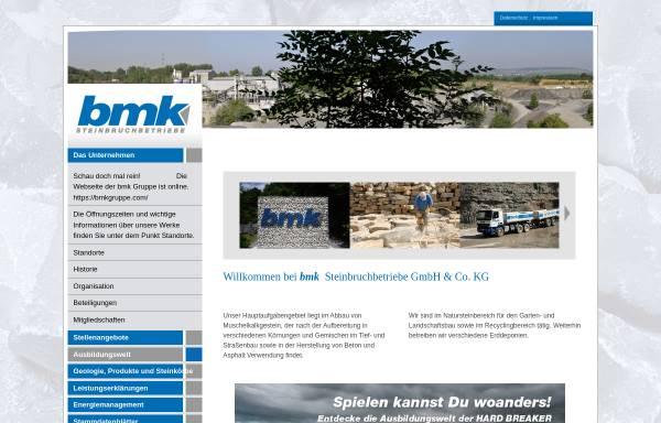 Vorschau von www.bmk-steinbruchbetriebe.com, Bmk Steinbruchbetriebe GmbH & Co. KG
