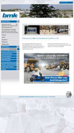 Vorschau der mobilen Webseite www.bmk-steinbruchbetriebe.com, Bmk Steinbruchbetriebe GmbH & Co. KG