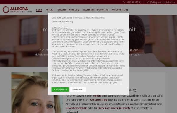 Vorschau von www.allegra-immobilien.de, Allegra Immobilien