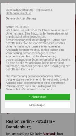 Vorschau der mobilen Webseite www.allegra-immobilien.de, Allegra Immobilien