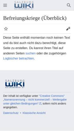 Vorschau der mobilen Webseite www.salzburg.com, Befreiungskriege - Salzburgwiki