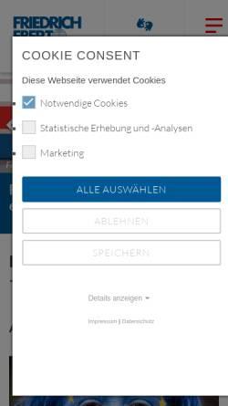 Vorschau der mobilen Webseite www.fes.de, Die Befreiungskriege von 1813 bis 1815 in der deutschen Geschichte