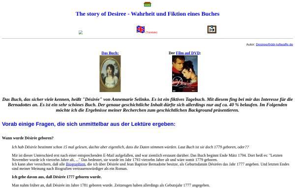 Vorschau von home.snafu.de, Desiree Bernadotte