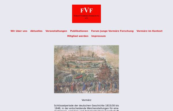 Vorschau von www.vormaerz.de, Forum Vormärz Forschung e.V.