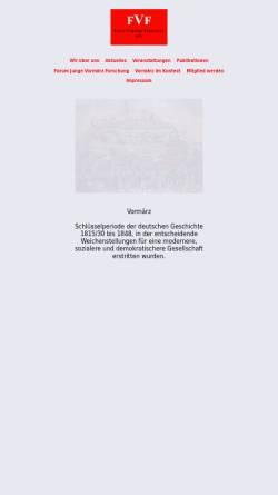 Vorschau der mobilen Webseite www.vormaerz.de, Forum Vormärz Forschung e.V.