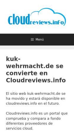 Vorschau der mobilen Webseite www.kuk-wehrmacht.de, Österreichische Militärgeschichte - Historischer Service