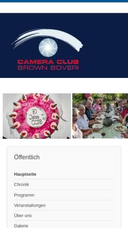 Vorschau der mobilen Webseite www.brownboveri.ch, Camera Club Brown Boveri