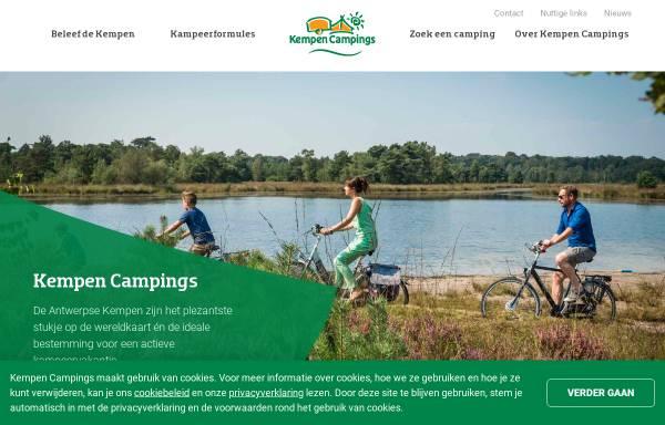 Vorschau von www.kempencampings.be, Antwerpner Kempen