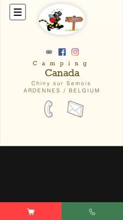 Vorschau der mobilen Webseite www.campinglecanada.be, Camping Le Canada