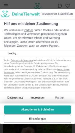 Vorschau der mobilen Webseite www.haustier-anzeiger.de, Haustier-Anzeiger