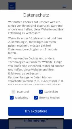 Vorschau der mobilen Webseite www.bhi-immobilien.de, BHI Immobilien