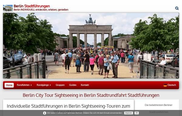 Vorschau von www.berlin-stadtfuehrung.de, Berlin Stadtführungen Sightseeing Tours