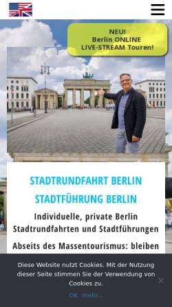 Vorschau der mobilen Webseite www.your-berlin-city-guide.de, Stadtrundfahrt Berlin