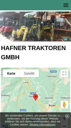 Vorschau der mobilen Webseite www.hafnertraktoren.com, Hafner Traktoren GmbH