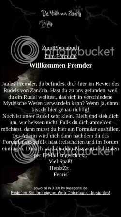 Vorschau der mobilen Webseite baseportal.de, Die Wölfe von Zandria