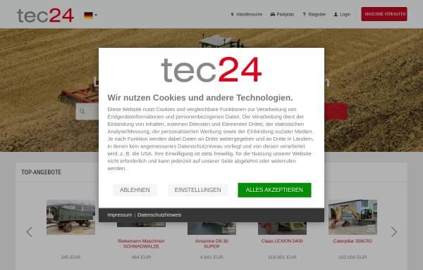 Vorschau von www.tec24.com, tec24.com, Land24 GmbH