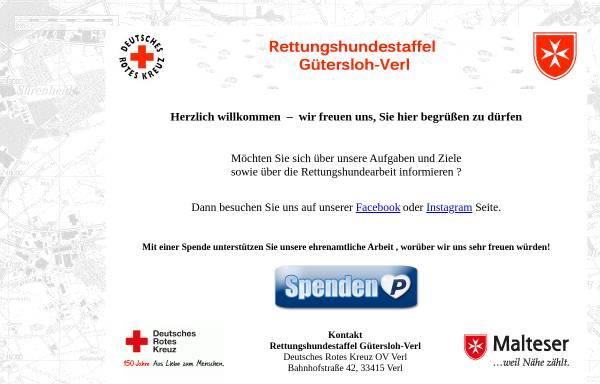 Vorschau von www.rettungshundestaffel-guetersloh-verl.de, Rettungshundestaffel der Malteser Gütersloh und des DRK Verl