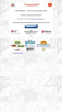 Vorschau der mobilen Webseite www.rettungshundestaffel-guetersloh-verl.de, Rettungshundestaffel der Malteser Gütersloh und des DRK Verl