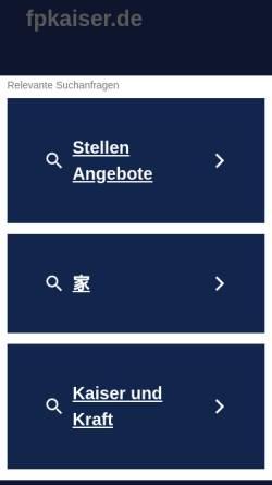 Vorschau der mobilen Webseite www.fpkaiser.de, Fachpersonal Kaiser GmbH