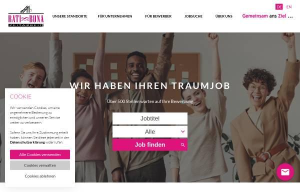 Vorschau von ratisbona-zeitarbeit.de, Ratisbona Zeitarbeit GmbH