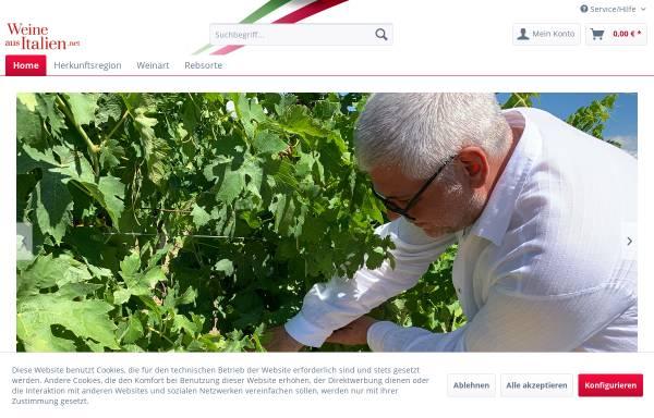 Vorschau von www.weine-aus-italien.net, Weine aus Italien, Thomas Kellermann