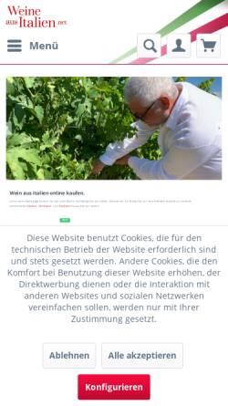 Vorschau der mobilen Webseite www.weine-aus-italien.net, Weine aus Italien, Thomas Kellermann