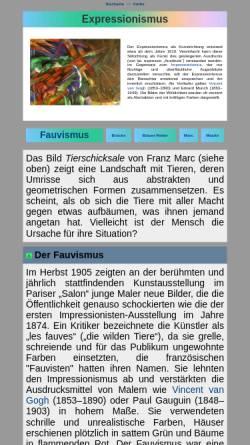 Vorschau der mobilen Webseite www.seilnacht.com, Expressionismus - Geschichte und Merkmale