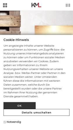 Vorschau der mobilen Webseite www.kml-kramer.de, KML-Kramer GmbH