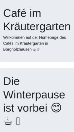 Vorschau der mobilen Webseite www.hof-brune.de, Hof Brune - Café im Kräutergarten