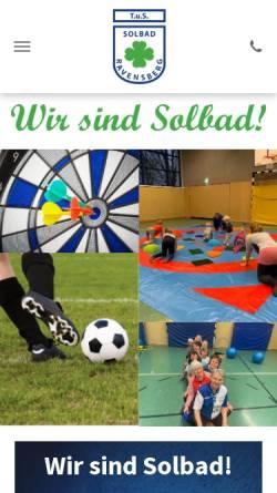 Vorschau der mobilen Webseite www.tussolbad.de, TuS Ravensberg e.V.
