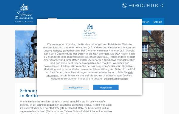 Vorschau von www.schnoorimmobilien.de, Schnoor Immobilien